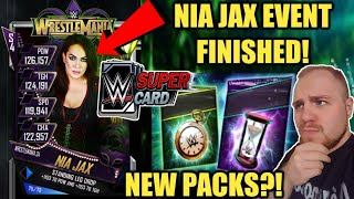 NIA JAX EVENT CARD COMPLETED! RING DOMINATION ACTION, WM34 PULL + NEW FEMALE PACKS! WWE SuperCard S4