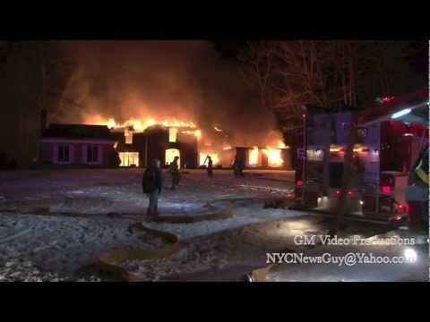2nd-Alarm fire at 334 Hook Road - Bedford