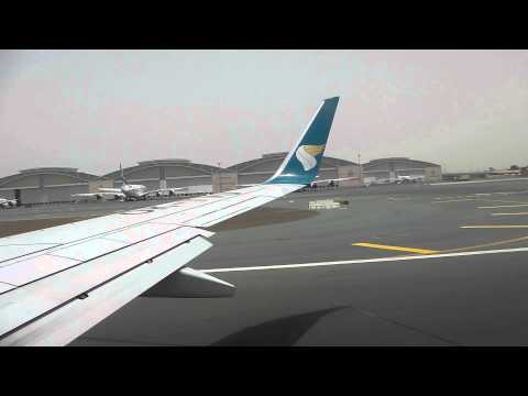 Oman Air 737-800 departure from Dubai
