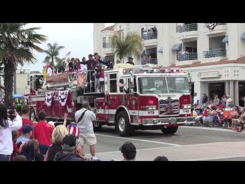 2012 4th of July Parade Huntington Beach CA. HD High Quality Video & Sound