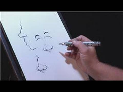Drawing & Caricature Art : How to Draw Noses in Caricatures