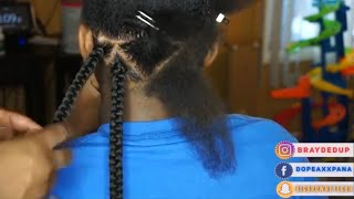 How to Part for Triangle Box Braids| How to Tuck Hair