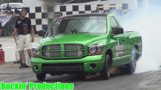 DIESEL PRO-STREET TRUCKS PT1 @  TS PERFORMANCE 2013 OUTLAW DRAGS BEECH BEND DRAGWAY