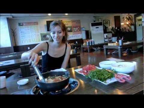 Shabu-shabu (Japanese style hot pot) in Yongin, Korea
