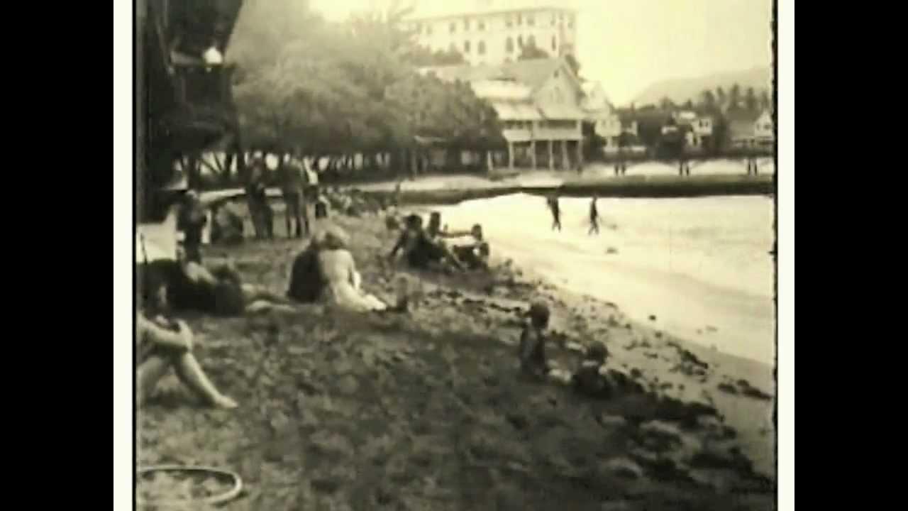 Vintage Hawaiian Film Circa 1913 Waikiki Honolulu