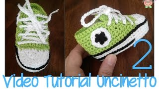 Tutorial Uncinetto: come si fanno le scarpine ALL STAR CONVERSE