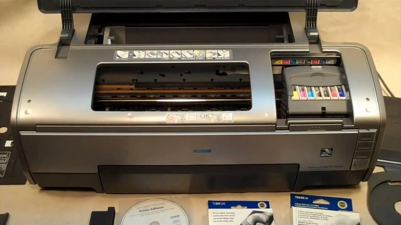 Epson Stylus Photo R1800 Color Printer Youtube