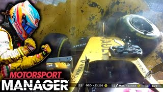 ALONSO REGEN?! BUT ANOTHER CRASH WTF! | Motorsport Manager PC