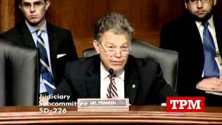 Al Franken Smacks Down  Hans von Spakovsky  Over Flawed Voter ID Stats