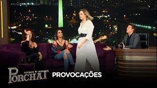 Ana Paula se irrita com Vida Vlatt e abandona o palco do Porchat