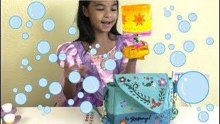 Disney Princess Rapunzel DIY Adventure Bag + Bubble Lantern Launcher   Toys Academy