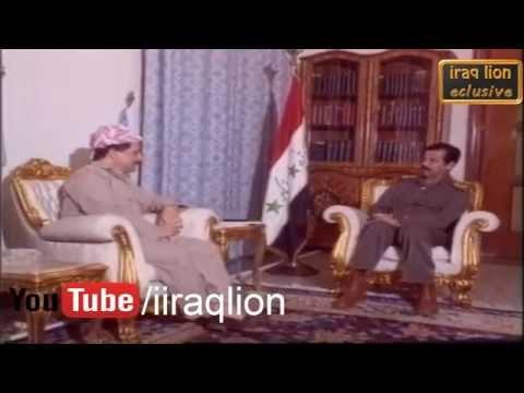Masoud Barzani Saddam Hussein