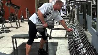 255 Ibs pure Viking power offseason backtraining.
