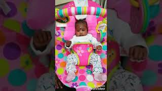 OUR 1 MONTH OLD BABY FIRST BABY SHARK DANCE