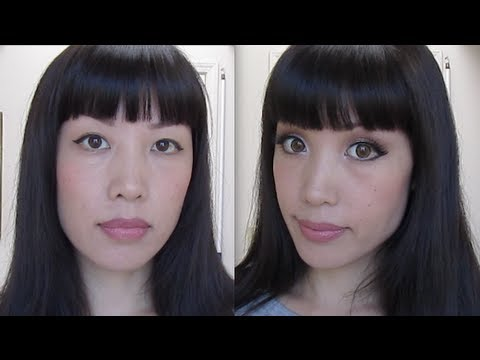 if asians with big and round eyes still look asian what makes a