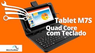 Tablet Quad Core Android 4.4 M7S com Teclado MULTILASER - Loja do Mecânico