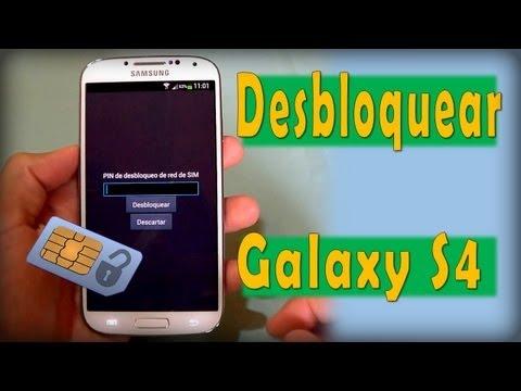 Liberar Desbloquear Samsung Galaxy S4   PIN de desbloqueo de red de SIM