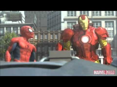 Spider-man, Iron Man And The Hulk (full And Hq) video