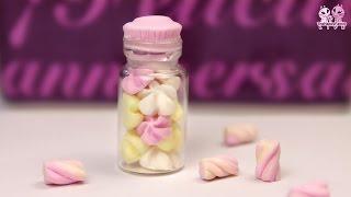Полимерная глина - сладкая БАНОЧКА с зефирками