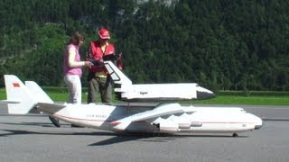 Antonov An-225 Mriya Lightweight RC Scale Model Airplane launching a Buran Space Shuttle