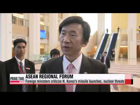 Foreign ministers at ASEAN forum urge North Korea to adhere to UN resolutions