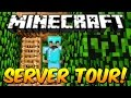 Minecraft Server Tour! (BEST SERVER EVER OMG!)