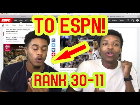 OUR MESSAGE TO ESPN! REACTING TO ESPN TOP 100 NBA PLAYERS!! (RANK 30-11)