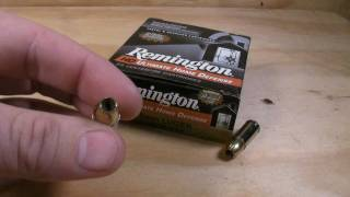 9mm Luger - Remington Ultimate Home Defense - 124 Gr. JHP Ammo Test