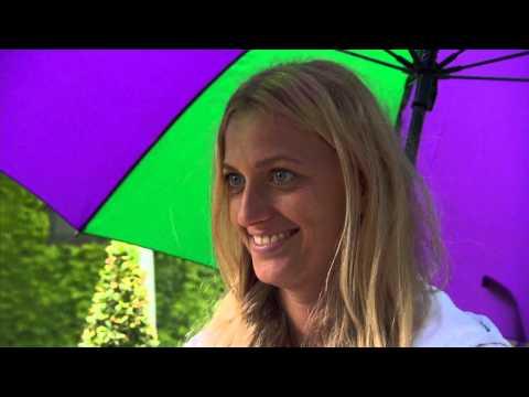 Petra Kvitova interviews for the job of Wimbledon Champion