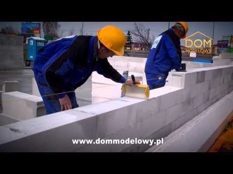 Ściany zewnętrzne z YTONG ENERGO - rozpoczęcie budowy Domu Modelowego