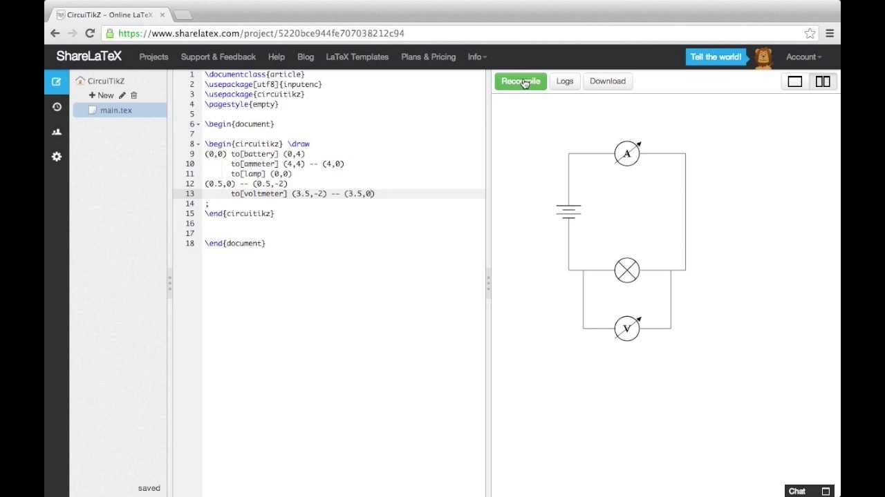 Creating Circuit Diagrams For Latex Documents Using