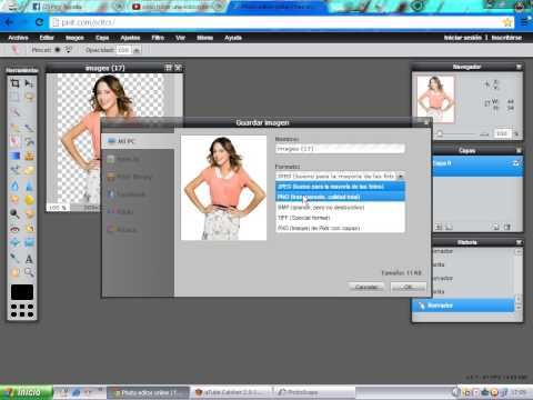 Как сделать png в фотошоп