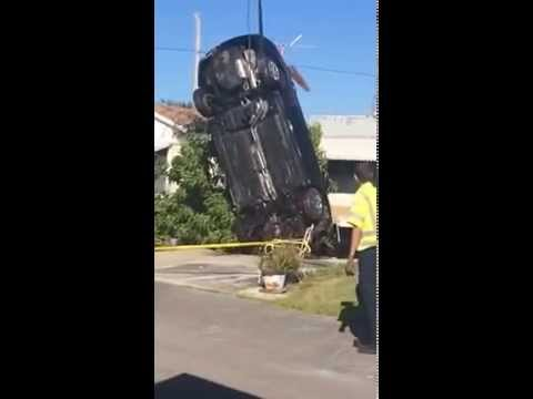 Retrieving Car from Sinkhole in Holiday Florida
