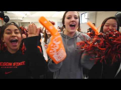 Oregon State Gymnastics Selection Show Celebration