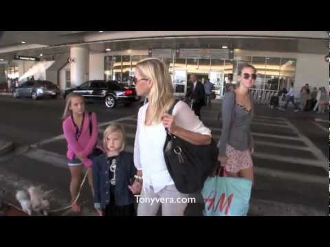 jennie garth and her kids at lax