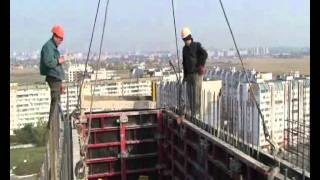 ROBUD - Dismantling of elevator shaft formwork.wmv
