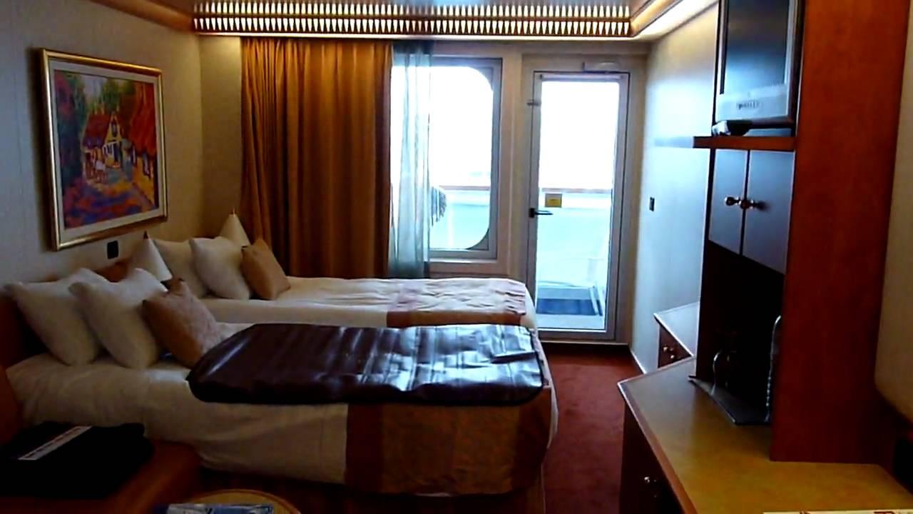 Carnival freedom balcony cabin 8346 youtube for Cruise ship balcony room