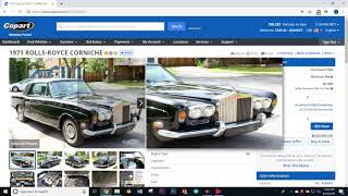 Buying cars online through  an online auction
