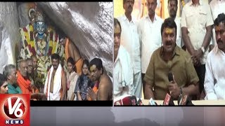 Minister Talasani Srinivas Yadav Visits Komuravelli Mallanna With Family Members