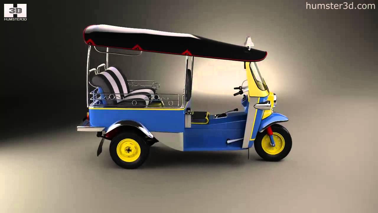Electric Tuk Tuk Thailand Tuk-tuk Thailand 1980 by 3d