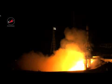 Launch of Russian Soyuz booster carrying Foton-M4 science sat from Baikonur (improved)