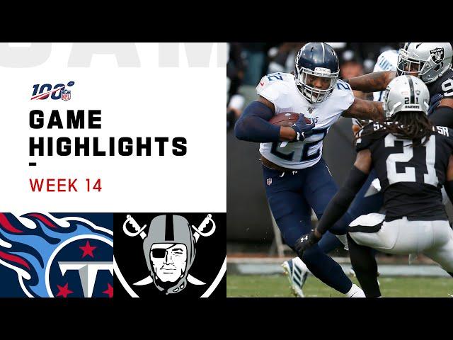 Titans vs. Raiders Week 14 Highlights | NFL 2019 thumbnail