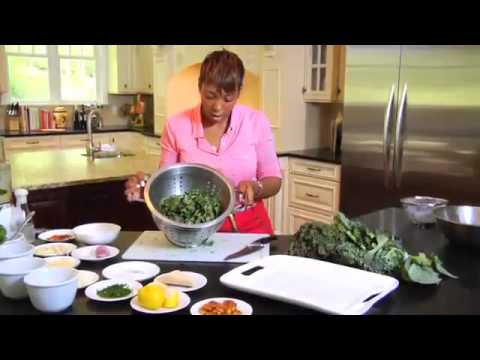Chef Danielle Saunders Creates an Easy Kale & Collard Caesar Salad Recipe for Back to School