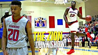 Zion Williamson CRAZY DUNK SHOW vs Isaiah Washington (Not JellyFam)! in Home Opener!