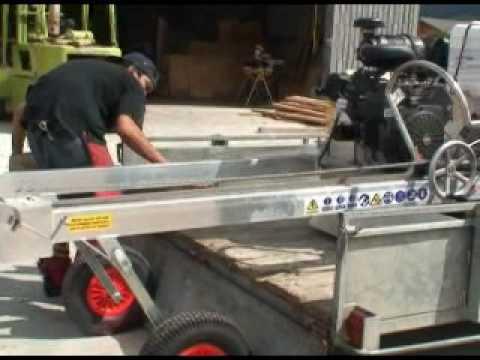 Portable Sawmill Trailer Transportation Instructions - ATS