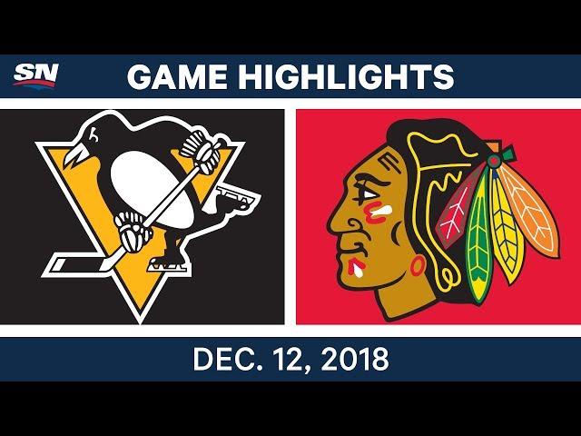 NHL Highlights  Penguins vs. Blackhawks - Dec 12, 2018