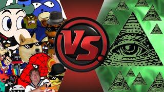 MLG and YOUTUBE POOP vs ILLUMINATI! FINAL FACE-OFF! Cartoon Fight Club Episode 33
