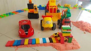 Đồ chơi trẻ em xe công trình xe cần cẩu xe múc cát