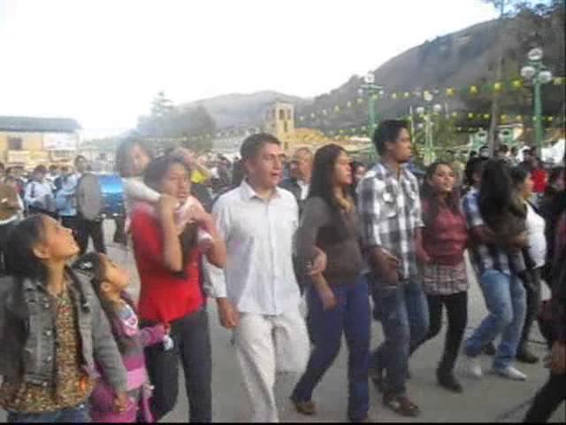 Plantaciòn de Capillas en la Fiesta de San Juan Bautista en Pomabamba 2013
