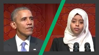 President Obama Baltimore Mosque Full Speech - intro by Ethiopian Sabah Mukhtar